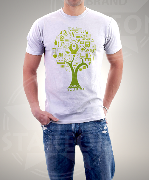 Education Tree Printed Tee Shirt